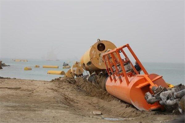 لولهگذاری دومین خط لوله زیردریایی پایانه نفتی جاسک